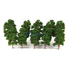 20pcs Mix Size Model Trees Deep Green For N HO Scale Layout Diorama Scenery