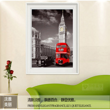 diamond painting car,5d diy diamond painting crystal,red bus,5d embroidery,diamond painting auto Christmas gift landscape(China)