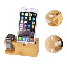 Wood Phone Stand Charging Bracket Holder for iPhone 7 plus 6S Plus SE 5 5S for i Watch Natural Bamboo Charging Dock Station