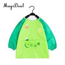 MagiDeal Childs Apron for Painting Cooking Kids Smock with Pocket Waterproof L(China)