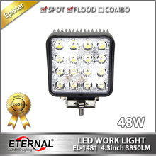 20pcs- 48W tractor lamp automotive off road ATV UTV 4x4 truck trailer farm agriculture vehicles led work light Driving fog lamp.