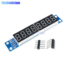 MAX7219 LED Dot Matrix 8 Digit Digital Tube Display Control Module 3.3V 5V Microcontroller Serial Driver 7-segment For Arduino(China)