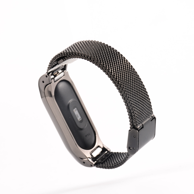Ollivan Metal Strap For Xiaomi Mi Band 2 Screwless Stainless Steel Bracelet For MiBand 2 Wristbands Wearable Replace Accessories