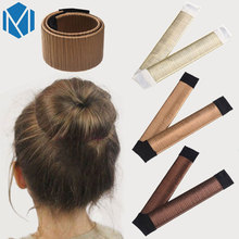 Kids Girls French Hair Bun Maker Donut Styling Hair Fold Wrap Snap Accessories for Children Curler Roller Quick Dish Headbands(China)