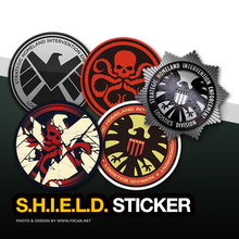 Marvel Agents of SHIELD Logo Reflective Decorative Fuel Cap Tank Car Sticker Auto Vinyl Decal Exterior Window Body Car-Styling