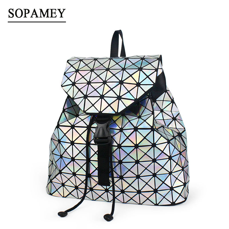 SOPAMEY 2017 New Geometric Women Backpacks Famous Bag Students School Bag For Teenage Girl Daily Drawstring Women Backpack Sac<br>