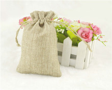"2015 Newest 5000pcs 10x15cm/3.9""x5.9"" Jute Burlap drawstring Favor Bags for candles handmade soap wedding"