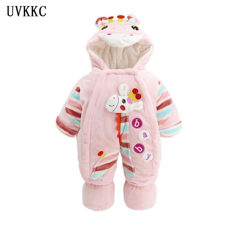 UVKKC 2017 Sleeping bag Baby girls Rompers winter Baby clothing set Cartoon infant Newborn Jumpsuit longsleeve ropa de bebe nena<br>