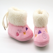 Now Hot Spring Winter Baby Shoes Warm Soft Baby Cute Shoes Cotton Padded Infant  Baby Boys Girls Boots Soft Boots 0-18M