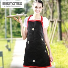 Apron Cotton Embroidered Flowers Womens Funny Cooking Chef's Aprons Dining Room Barbecue Restaurant Cleaning Floral Halterneck