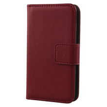 Exyuan Fashion Pop Mobile Phone Flip Case Book Style Genuine Leather Cover For Argos Bush Eluma B1 4 Inch