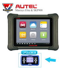 AUTEL MaxiSys Elite Support J2534 ECU programming Scanner Update From MS908P with SKP900 auto key programmer Diagnostic Tools