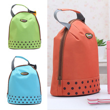 Thick Ice Bag Insulation Lunch Bag Lunch Bag Portable Hand Carry Ice Bag Polka Dot Bottle Package(China)