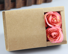 inside size 9*6*4cm kraft paper jewelry gift packaging boxes,brown drawer boxes,natural craft cosmetic boxes,kraft paper boxes