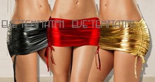 Buy Sexy glisten Metallic PVC FAUX LEATHER Underwear Babydoll Lingerie miniskirt Stripper Party nightclub philabeg leather hot skirt