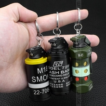 Creative Jar Shaped Grinding Wheel Butane Gas Jet Lighters Keychain Refillable Metal Cigarette Lighter Torch Fire Barbecue Tools(China)