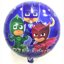 July Forest 10 Pieces 18inch PJ Masks Star Foil Balloons Baby Shower Birthday Party Masks Inflatable Decor Supplies Child Toys(China)