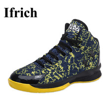 Ifrich Shoes Women Basketball High Sneakers Boys Sport Blue/Black Sport Shoes Men Basketball New Cool Basketball Shoes For Men
