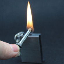 1pcs 10000 times Metal match Fire starter tool flint stone lighter steel magnesium outdoor survive camp hike(China)