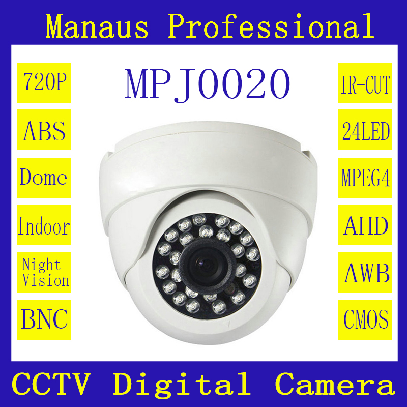 White/Black ABS Surveillance Camcorder CCTV 1.0MP 720P AHD Camera 24 Infrared LEDs Night Vision Indoor Dome Digital Cameras J20b<br><br>Aliexpress