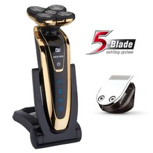 Original 5 blade Shaver Rechargeable Electric Shaver waterproof 5D shaving machine beard Electric Razor For Men(China)