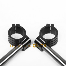 Black Color 43mm CNC Clip Ons Handlebars Universal Fork Handle Bars Multicolor Optional Motorcycle Hot Sale(China)