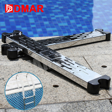 "DMAR Swimming Pool 304 Stainless Steel Ladder Footstep Rung Stepladder Equipment 50cm 20"" Cleaner Accessories With Screws 2017(China)"