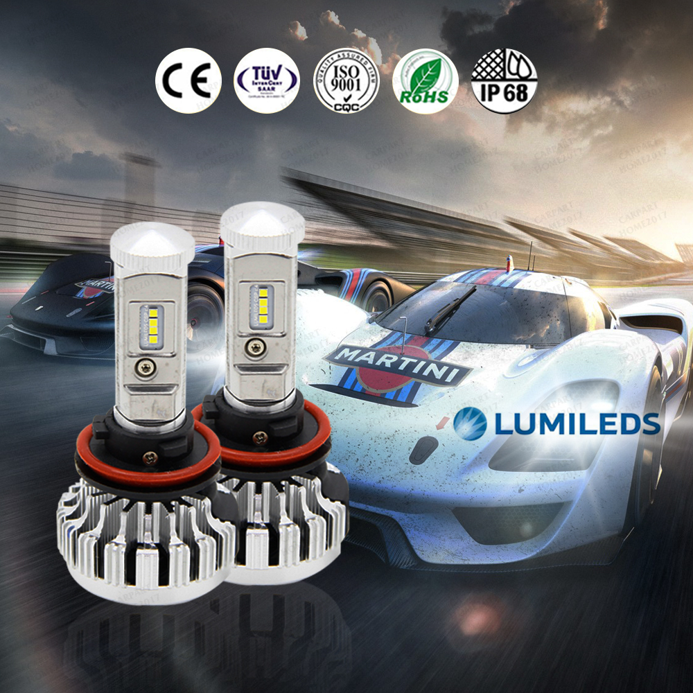 ZOYE H4 H7 H1 H11 H3 H13 9007 9006 9012 9004 9005 LED Headlight Bulb philips Chips Hi-Lo Beam Lamp 80W 10000LM 6000K 12V <br>