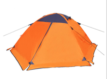Howwvii 3-4 Person Double Layer and Double Layer Camping Tent with Aluminum Poles Four SeasonsTent