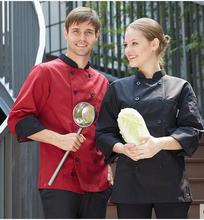 Cook suit long-sleeve autumn and winter work wear work uniforms double breasted chef uniform restaurant hotel cook clothing