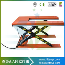 U-Shape Roller Top Foot Pump Hydraulic Manual Lift Table, Customized Available