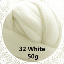 Free shipping handmade Wool Felt for felting 50g White Perfect in Needle Felt 34#
