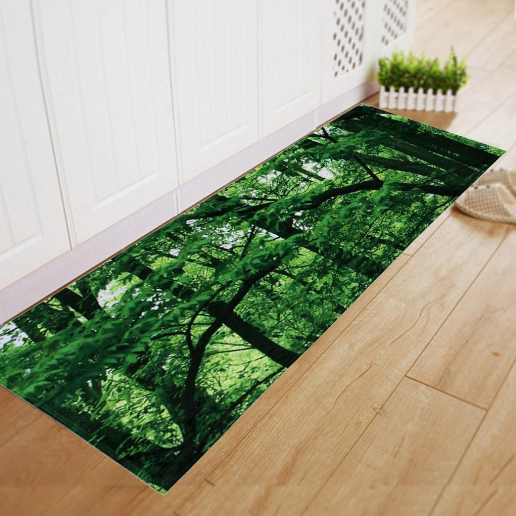 Home Decoration Green Tree Floor Mat Dining Room Carpet Shaggy Soft Area Rug Bedroom Rectangle Non Slip 60180CM
