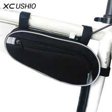 Black Color 11' Wear Resisting Outdoor Cycling Bicycle Triangle Bag Mountain Bike Front Tube Frame Bag Waterproof  Pouch Bag