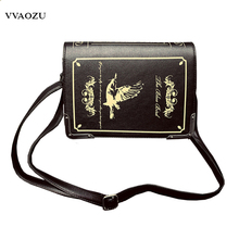 New Arrival Women Vintage Gothic Handbag Book Style 3D PU Shoulder Bag Lady Lolita Casual Messenger Bag Crossbody Bags