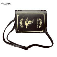New Arrival Women Vintage Gothic Handbag Book Style 3D PU Shoulder Bag Lady Lolita Casual Messenger Bag Crossbody Bags(China)