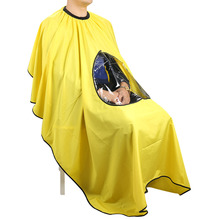 1 PC Color Random Adult Salon Hair Cut Hairdressing Barbers Cape Gown Waterproof Barber Cover Cloth Transparent Covers(China)