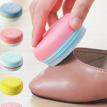 Portable Artifact Double-sided Wipe Quick Shoes Rub Color Duplex Shoe Polish Shine Sponge Brush Candy Brush Shoes Wholesale(China)