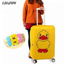 Cartoon Non-woven Luggage Pull Rod Dustproof  Waterproof Wear-resistant luggage sets Protective Cover Case Suitcase Organizer
