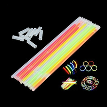 100Pcs/Lot Multi-color Fluorescent Bracelets Party Rave Night Club Glow Sticks(China)