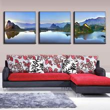 3 Pcs/set Classic Oil Art Painting On Canvas Landscapes Lakes and mountains picture paint painting home decoration