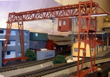1/87 Model Train ho scale crane gray diy kit architectural model material sand table model materials Free Shipping