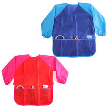 Waterproof Kids Children Painting Drawing Cooking Apron Smock with 3 Pockets(China)