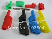 4mm Full Seal Insulated Stackable Safety protection Banana Plug 5 colors 54mm RH-2074 Brand New HOT Sale 120 Pcs Per Lot