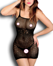 Buy HOT sexy costumes Fishnet Babydoll Intimate Lingerie costumes sleepwear Underwear Crotchless minidress Translucent 6256