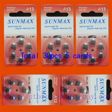 30 x Hearing Aid Batteries A13 13A ZA13 13 PR48(China)