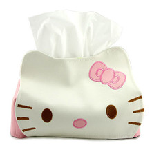 New Arrival Hello Kitty Tissue Box Cover Napkin Papers Holder