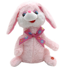 Children Electric Plush Toy Singing Dancing Animal Dog/Rabbit Baby Musical Interactive Kids Stuffed Dolls Christmas Gift FJ88(China)