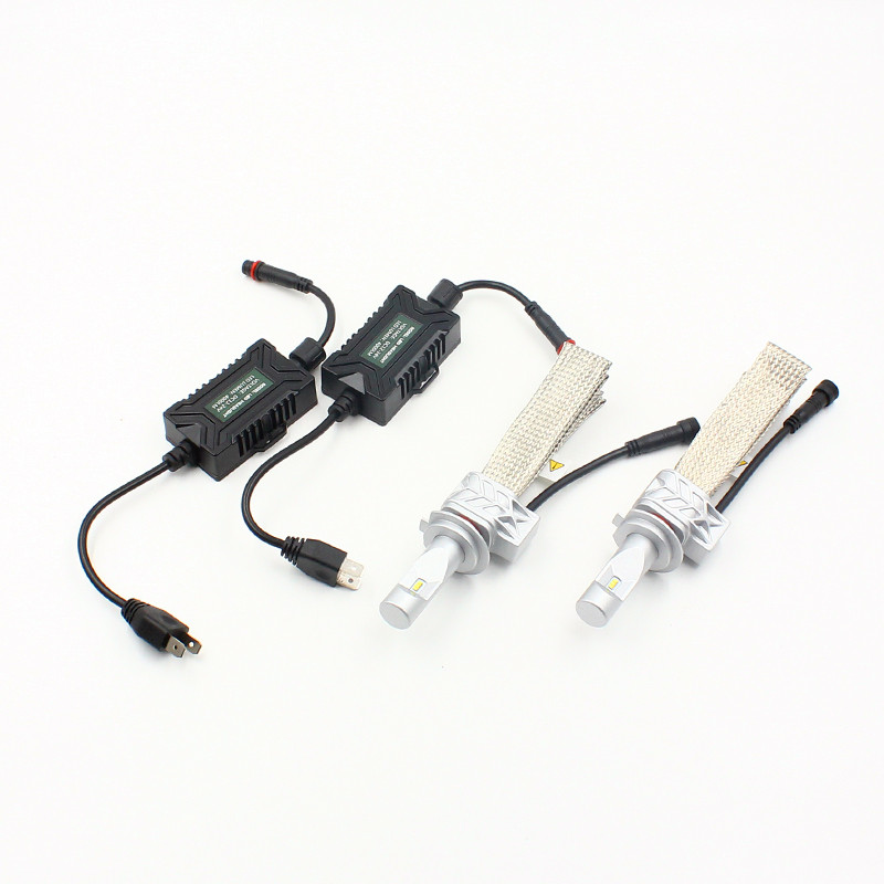 10SETS  H7  h8 h11 50W 8000LM 5S LED Headlight Kit LUXEON ZES LED Chips All in One Fanless Aluminum Belt Driving Single Lamp<br>