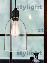 crystal bell glass pendant lights Modern glass lamp Dining room Indoor Contemporary lighting fixtures medium size